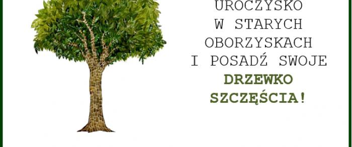 """Sadzenie ,,Drzewek Szczęścia"""" w Starych Oborzyskach"""